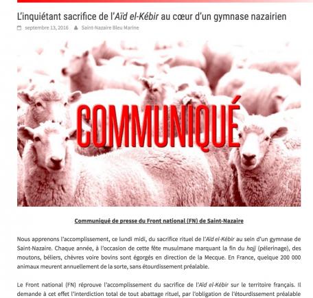 image du site du FN saint nazaire